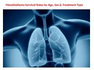 Mesothelioma Survival Rates by Age, Sex & Treatment Type