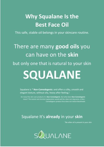 Why Squalane Is the
