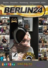 Ab Mitte November - 10 Jahre Berlin 24  Das Magazin  - Hall of Fame Berlin - Radio Schwung-  Berlin 24 TV