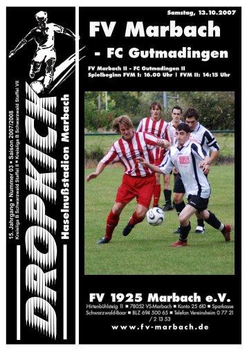 Haselnußstadion Marbach FV Marbach - FC Gutmadingen