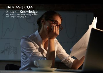 Understanding ASQ-CQA -Body of Knowledge