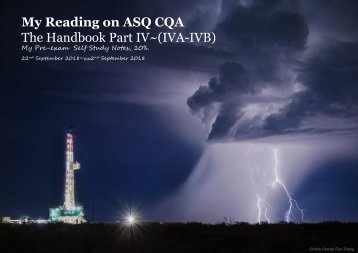 My Reading on ASQ CQA HB Part IV
