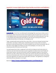 Legendz XL: Enhance Your absorption capacity and get good digestion system