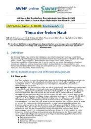 AWMF online - Leitlinien Dermatologie / Tinea der freien Haut