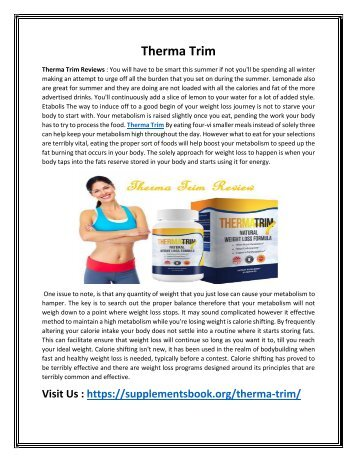 Therma Trim - You Feel Better and Loss Your Weight Shortly