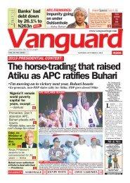 08102018 - 2019 PRESIDENTIAL CONTEST: The horse-trading that raised atiku as APC ratifies Buhari