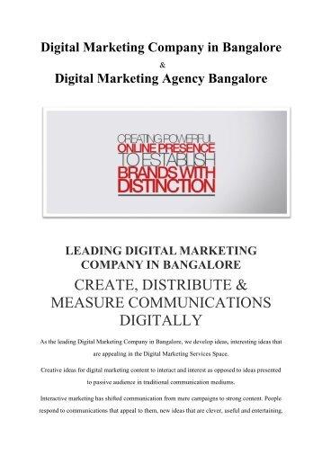Digital Marketing Company in Bangalore | Digital Marketing Services in Bangalore