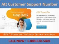 Contact 1-888-678-5401 Att Customer Support Number-converted