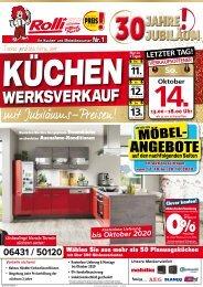 Küchen-Sonderverkauf mit exklusiven Vorteilen für den Küchenkauf - tolle Möbel-Angebote zu Jubiläumspreisen bei Rolli SB-Möbel in Elz / Limburg