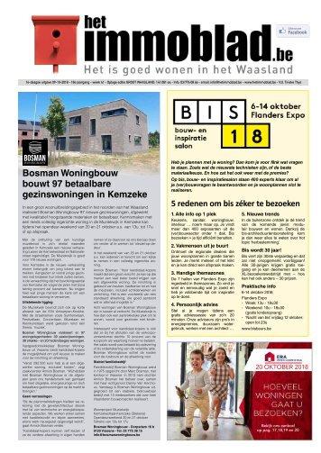 Het Immoblad van 9 oktober 2018