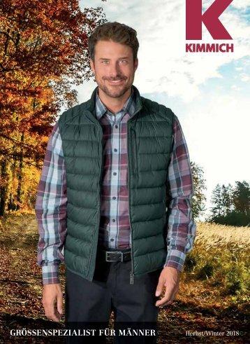 Kimmich Mode-Versand | Größenspezialist für Männermode | Herbst / Winter 2018