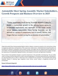 Automobile Sheet Spring Assembly Market Stakeholders, Growth Prospects and Business Overview to 2025