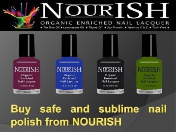 Buy safe and sublime nail polish from NOURISH-converted