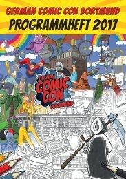 Programmheft German Comic Con Dortmund 2017