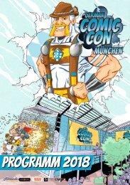 Programmheft German Comic Con München 2018