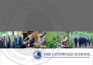 Cotswold School Main Prospectus 2018 low res for web
