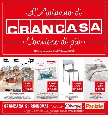 Grancasa 4 ottobre-29 ottobre 2018