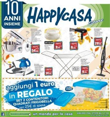 Happy Casa 27 settembre-11 ottobre 2018