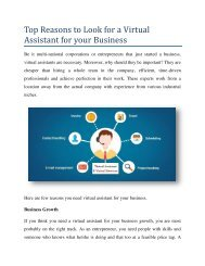 Why You Need to Hire Virtual Assistant for your Business?