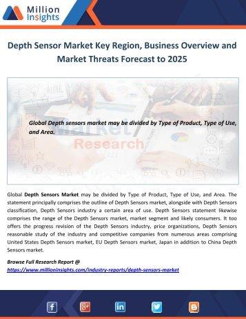 Depth Sensor Market Business Overview Forecast to 2025