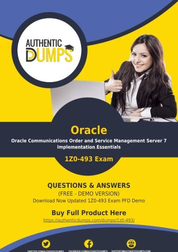 Oracle 1Z0-493 Dumps - Oracle 1Z0-493 PDF Questions and Answers | 2018 Updated