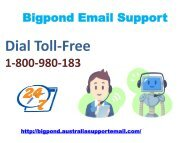 Anticipate Tech Errors Via Bigpond Email Support 1-800-980-183