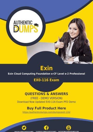 EX0-116 Exam Questions - [New 2018] Pass with Valid Exin EX0-116 Exam Dumps