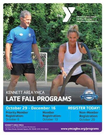 Kennett Area YMCA - Late Fall Program Guide 2018