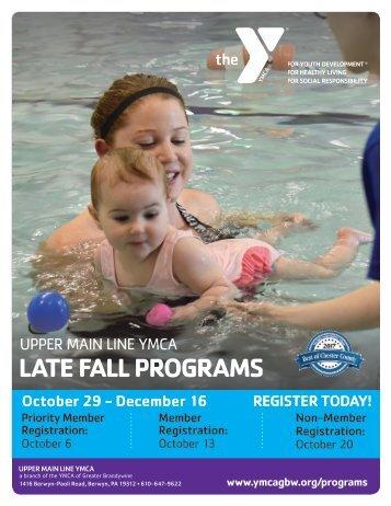 Upper Main Line YMCA - Late Fall Program Guide 2018