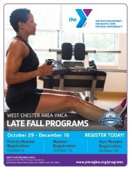 West Chester Area YMCA - Late Fall Program Guide 2018