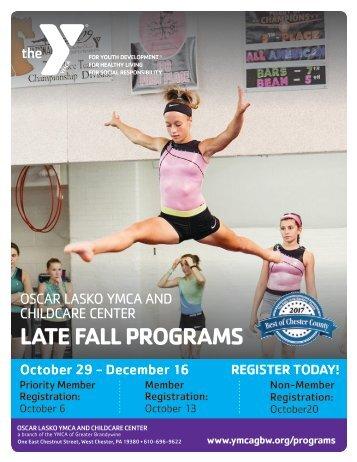 Oscar Lasko YMCA - Late Fall Program Guide 2018