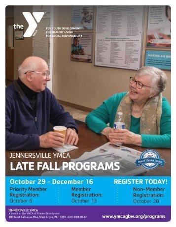 Jennersville YMCA - Late Fall Program Guide 2018