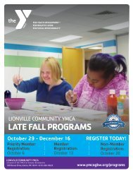 Lionville Community YMCA - Late Fall Program Guide 2018