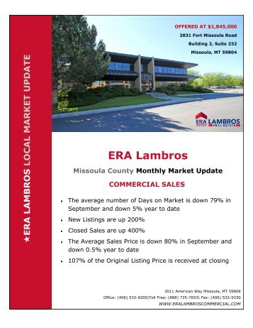 Missoula Commercial Update - September 2018
