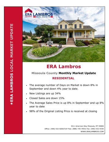 Missoula Residential Update - September 2018