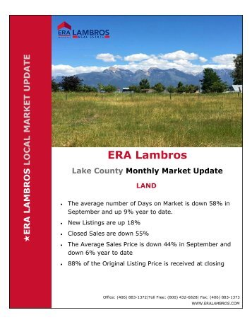 Lake County Land Update - September 2018