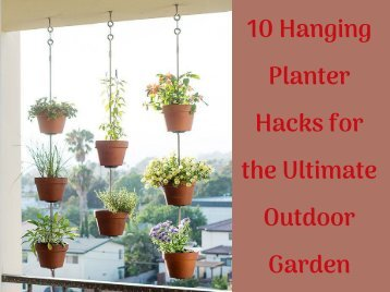 10 Hanging Planter Hacks for the Ultimate Outdoor Garden