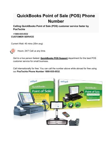 QuickBooks Point of Sale (POS) Phone Number_ PosTechie