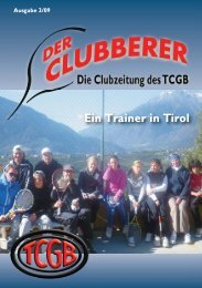 Ausgabe 2/09 (PDF) - Tennis Club Groß Borstel