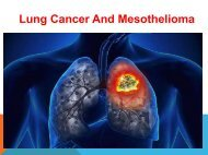 Lung Cancer And Mesothelioma Causes