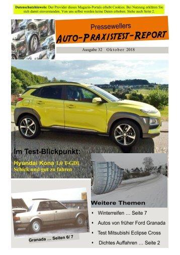 Auto_Praxistest-Report 32: Hyundai Kona und mehr