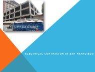 Electrical Contractor San Francisco