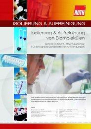 ISOLIERUNG & AUFREINIGUNG - Carl Roth