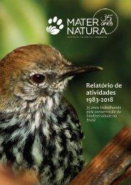 Portfólio Mater Natura 35 anos