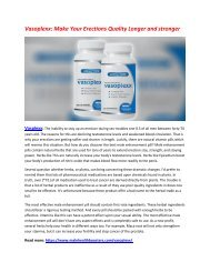 Vasoplexx: Enhance Your Erection Quality & make Your Erection Super Stronger