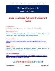 Security and Vulnerability Assessment Market will reach US$ 15 Billion by 2024