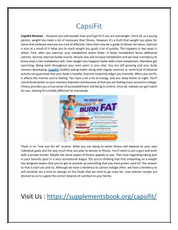 CapsiFit - Achive Target Weight Easily and Naturally