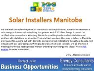 Best Solar Installers in Manitoba