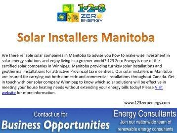 Best Solar Installers in Manitoba