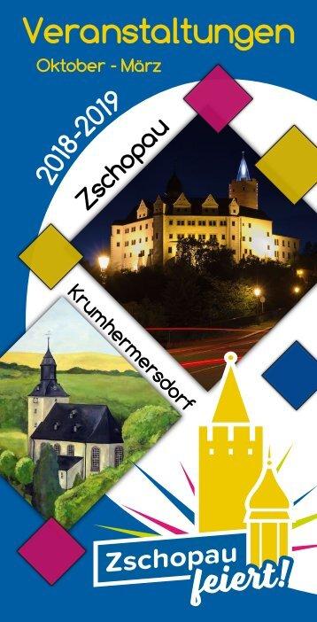 Veranstaltungen Zschopau/Krumhermersdorf Oktober 2018 bis März 2019